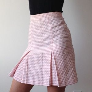 VINTAGE Le Château - Pink & White Pleated Skirt